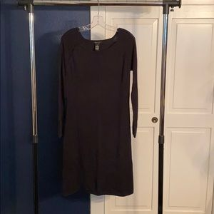 BCBG Black Knit Fitted Sweater Dress